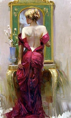 Elegant Seduction Painting by Pino
