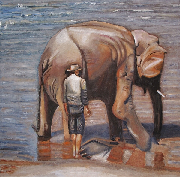 Elephant Painting - Elephant Man by Keith Bagg