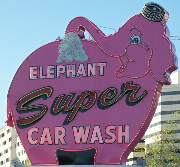 Elephant Super Car Wash Photograph By Randall Weidner