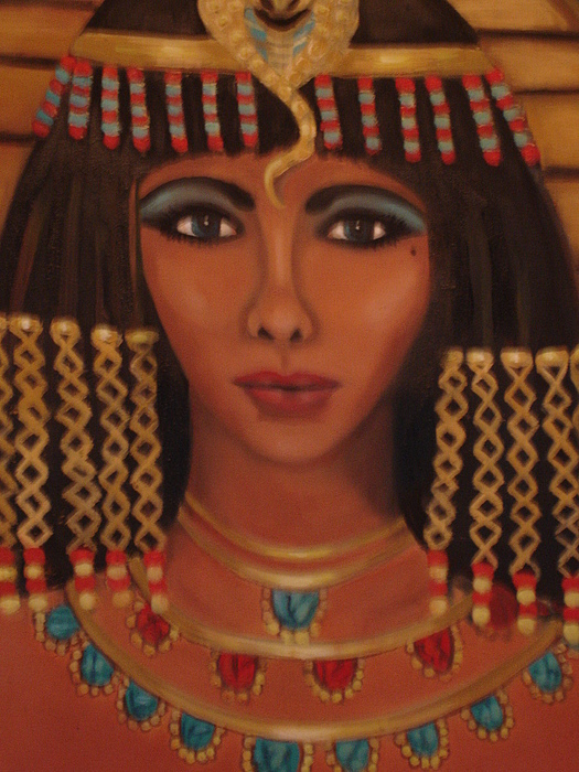 Elizabeth Of The Nile Close Up Painting by Linda Mungerson