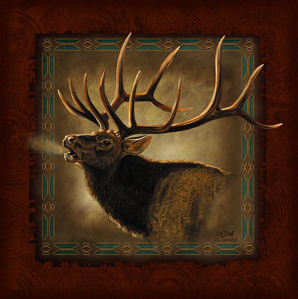 Wildlife Painting - Elk Lodge by JQ Licensing