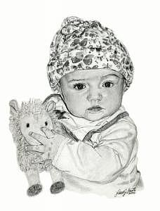 Babies Drawing - Ella by Laura Smith
