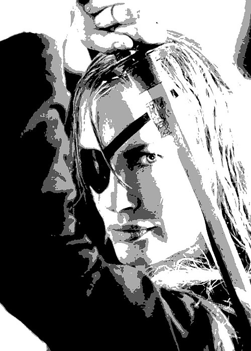 Kill Bill Painting - Elle Driver by Dan Carman