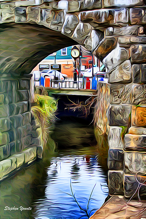Ellicott Digital Art - Ellicott City Bridge Arch by Stephen Younts