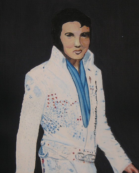 Elvis Painting - Elvis  by Allison Prior