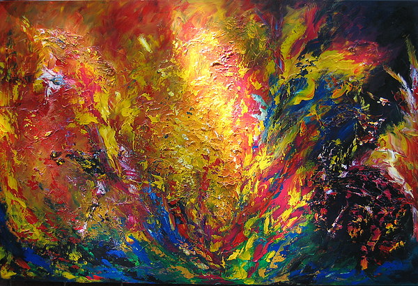 Abstract Painting - Emancipation by Nathalie Morin Rousseau