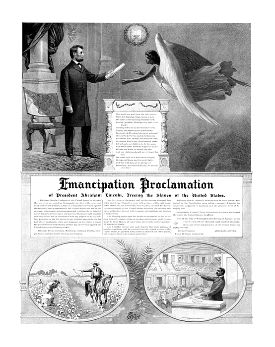 Emancipation Proclamation Mixed Media - Emancipation Proclamation by War Is Hell Store