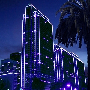 San Francisco Photograph - Embarcadero Lights by Richard Nodine