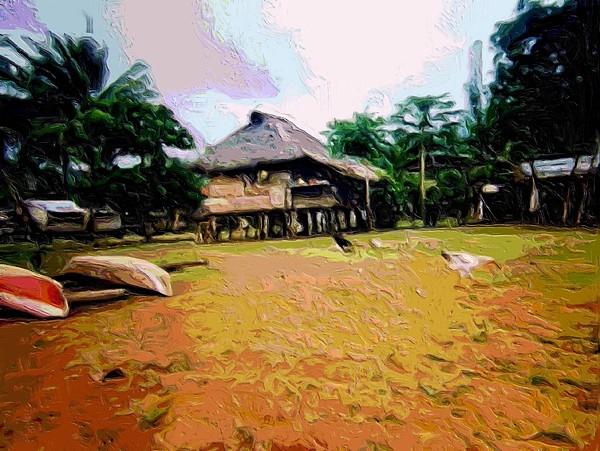 Jacque Painting - Embera Simple Way. by Nereida Slesarchik Cedeno Wilcoxon