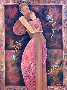 Embrace II Painting by Leslie Marcus
