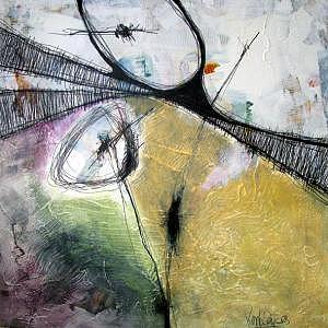 Abstract Impression Painting - Embrace II by Ron Weijers