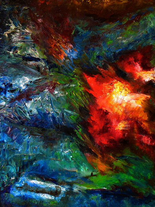 Abstract Painting - Embrace by Lou Ewers