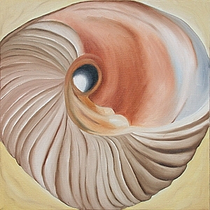 Shell Painting - Embracing Mother Shell by Marian Gliese