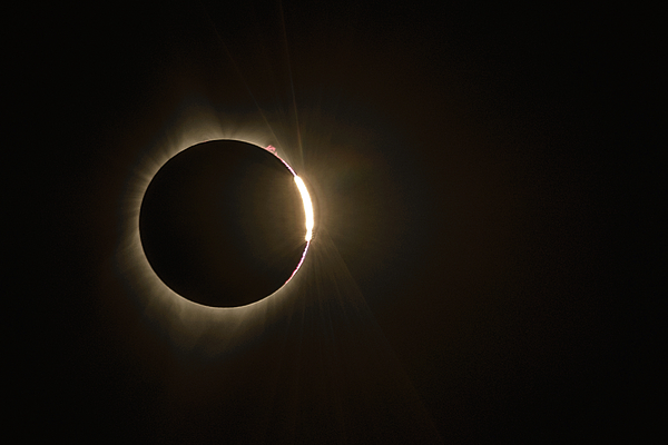 Eclipse Photograph - Emergence by Joe Hudspeth