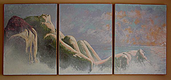 Figure Painting - Emergence Two by JoAnne Castelli-Castor
