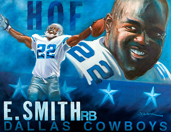 Emmit Smith Painting - Emmit Smith Hof by Jim Wetherington