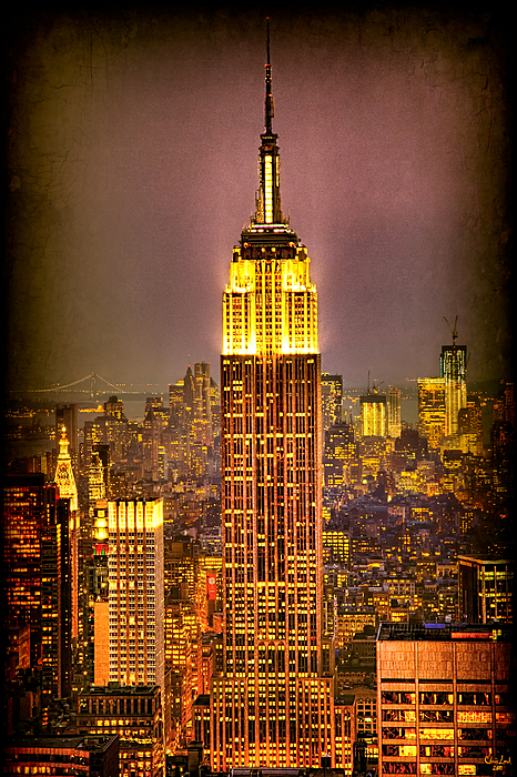 New York Photograph - Empire Light by Chris Lord