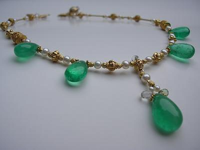 Designer Necklace Jewelry - Empress Necklace by Mia Katrin