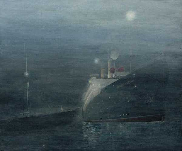 Empress Of Ireland Painting - Empress Of Ireland Collision by Jim Clary