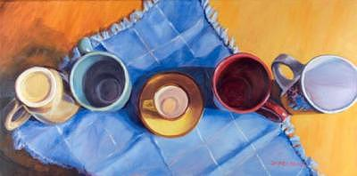 Still Life Painting - Empty From The Top -- Sold by Jayne Rose