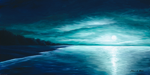 Moonscape Painting - Enchanted Moon I by James Christopher Hill