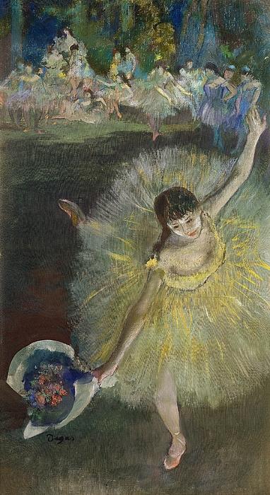 Dance Pastel - End Of An Arabesque by Edgar Degas
