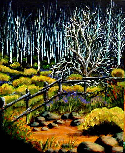 Evening Painting - End Of The Evening Trail by Diana Dearen