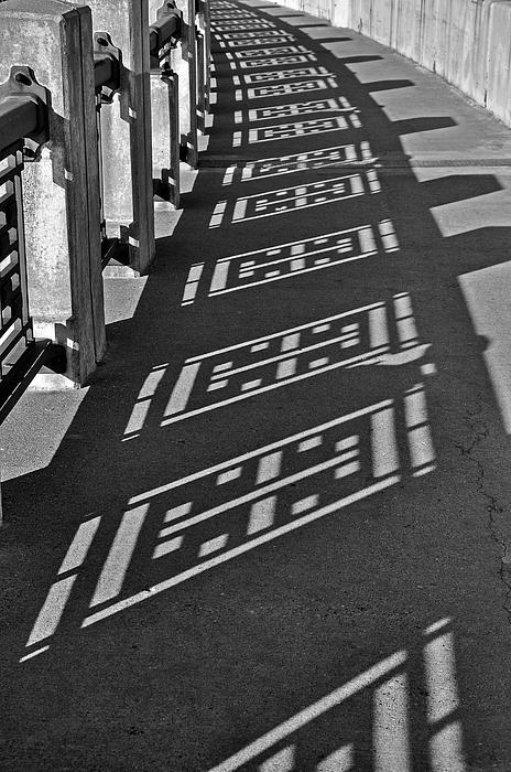 B&w Photograph - Endless Walkway by John Ricker