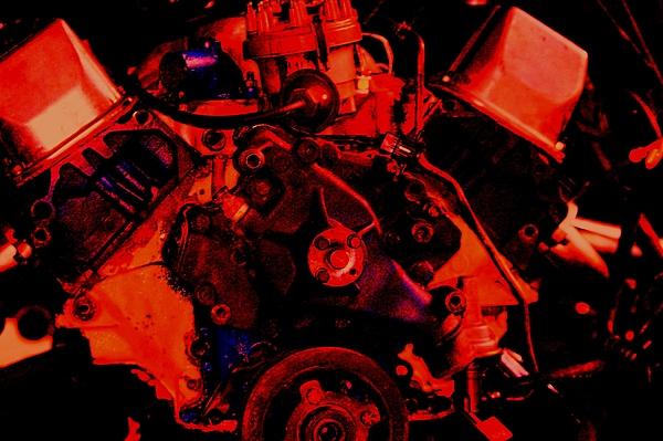 Engine Digital Art - Engine 2 by Lisa Johnston