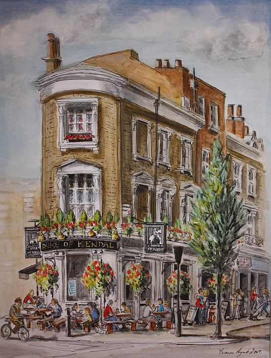 London Painting - England London The Duke Of Kendal by Yvonne Ayoub