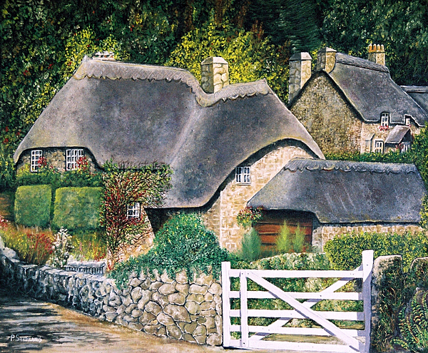 English Country Cottage Painting By Paul SANDILANDS