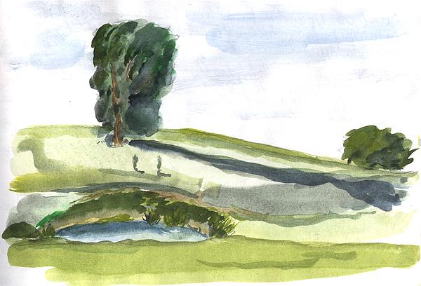 Kevin Callahan Painting - English Countryside by Kevin Callahan