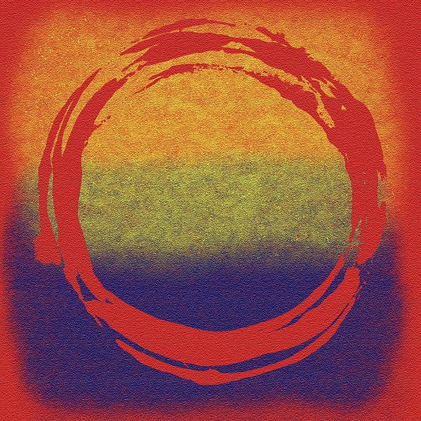 Circle Painting - Enso 7 by Julie Niemela