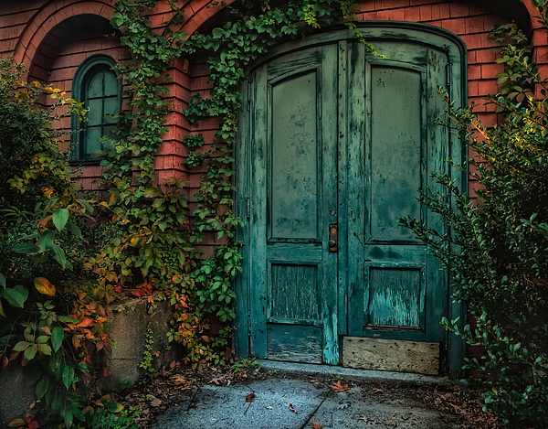Door. Old Door Photograph - Enter October by Robin-Lee Vieira