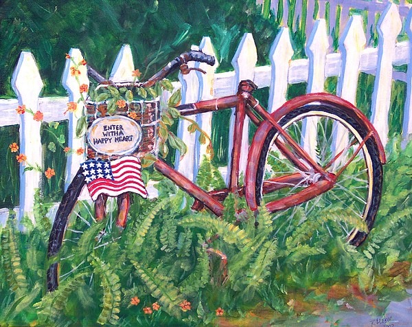Acrylic Painting - Enter With A Happy Heart by Ruth Mabee