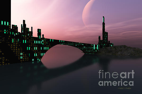 Space Art Painting - Entrancement by Corey Ford