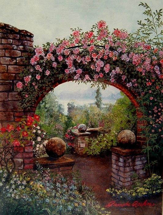 Garden Painting - Entrata De by Pamela Roehm
