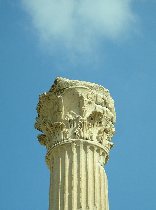 Column Photograph - Ephesian Column by Jennifer Kelly