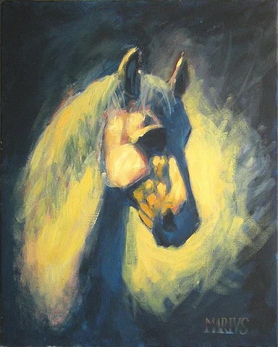 Horse Painting - Eqvvs V by Mariusz Loszakiewicz