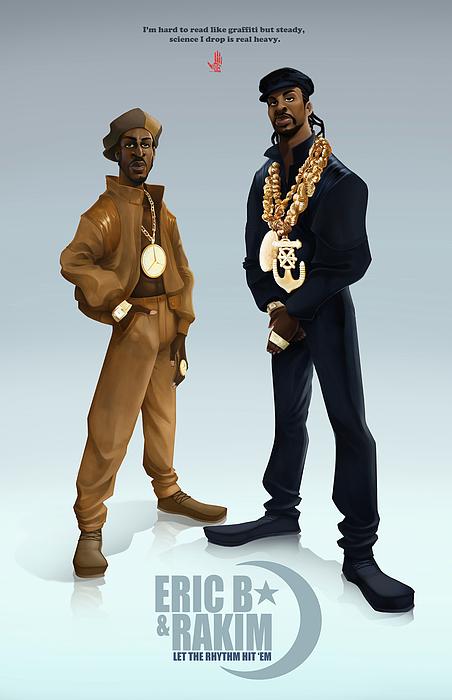 Rap Digital Art - Ericb And Rakim by Nelson Garcia