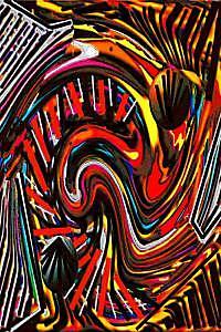 Abstract Digital Art - Eros And Thanatos by Paul Kaleja