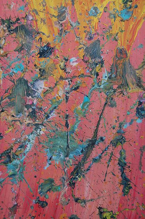 Erupt Painting - erupt II by Josh Stuller