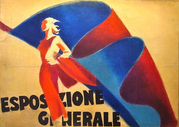 Italy Pastel - Esposizione Generale - Original Maquette by Dudovitch Marcello