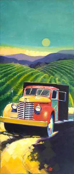 Vineyards Painting - Estate Vineyards - II by Ken Campbell