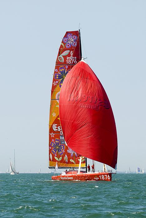 Yacht Photograph - Estrella Damm by Gerry Walden