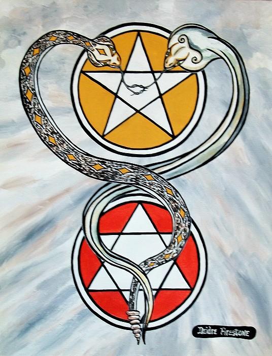 Soul Mate Painting - Eternal Soul Mates by Deidre Firestone