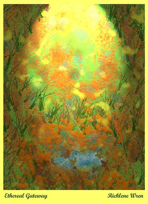 Landscape Digital Art - Ethereal Gateway by Ricklene Wren
