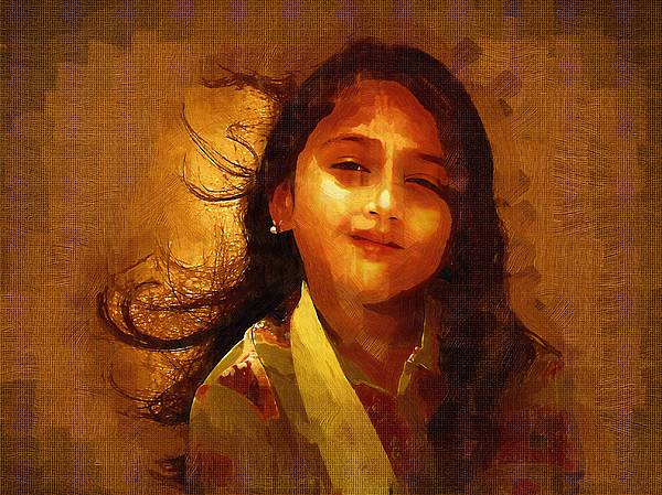 Portrait Painting - Etherial by Kotekoppa Praveen