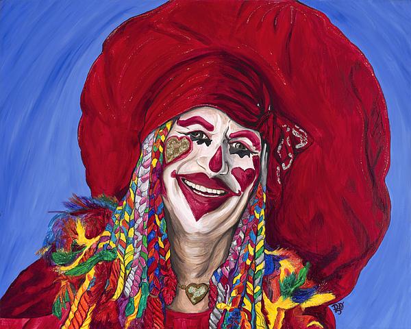 Glitter Painting - Eureka Springs Clown by Patty Vicknair