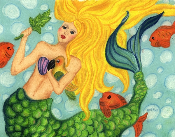 Painting Painting - Eve The Mermaid by Norma Gafford